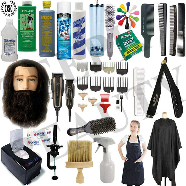 Barber School Kit Beauty School Men/Male Manikin Head Beard Wahl Clippers Practical Exam Approved - Liberty Beauty Supply