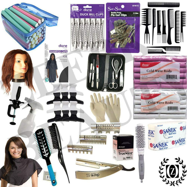 Cosmetology Hair School & Barbershop Practice Kit State Board Approved Manikin Head Cutting Clippers - Liberty Beauty Supply