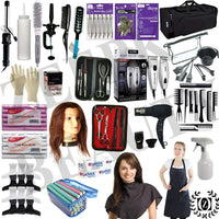 Hair School Kit Travel Bag Professional Beauty Barber Set Salon Andis Combo Cutting Clipper Trimmer - Liberty Beauty Supply