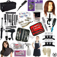 Cosmetology Barber School kit State Board Approved Manikin Head Beginners Cutting Styling Salon Set - Liberty Beauty Supply