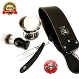 Zeva Wet Cut Throat Straight Razor Shaving Kit/set For Men 5 Pc Free Shipping - Liberty Beauty Supply