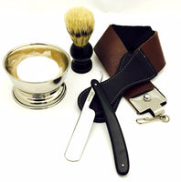 5 Pc Straight Razor Shaving Gift Set For Christmas With Traveling Bag - Liberty Beauty Supply