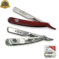 Free Blades + Classic Barber Straight Razor Cut Throat Salon Shaving Rasoi - Liberty Beauty Supply