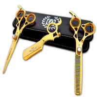 "Professional Hair Styling GOLD Shears Cutting Scissors Salon Barber 6"" TIJERAS - Liberty Beauty Supply"