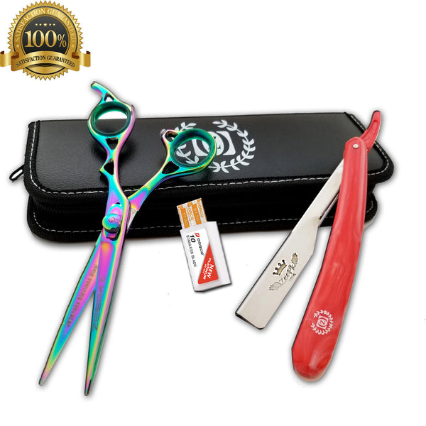 Salon Hair Cutting Thinning Scissors Barber Shears Hairdressing Accessories Set - Liberty Beauty Supply
