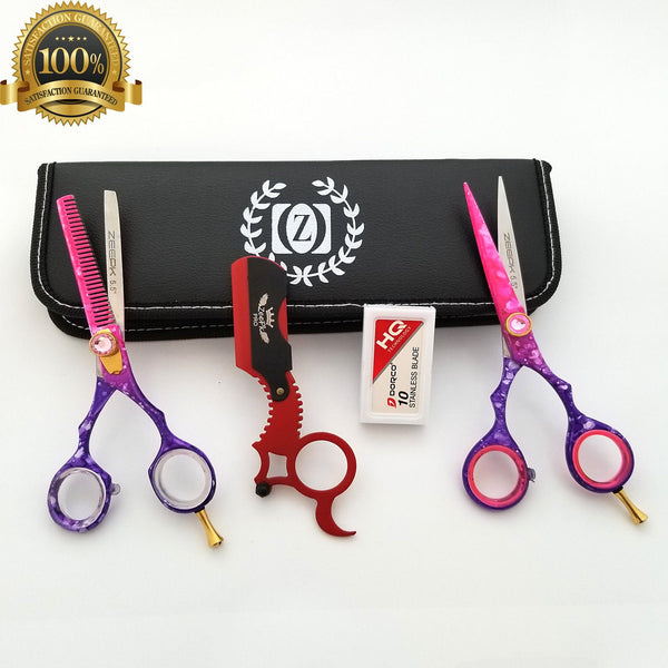 "6"" Salon Hair Scissors Set Barber Hair Cutting Shears Hairdressing Styling Kit - Liberty Beauty Supply"