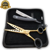 Barber Shears Professional Hairdressing Set Salon Hair Cutting Thinning Scissors - Liberty Beauty Supply