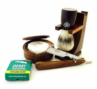 Cut throat shavette straight razor shaving gift set for birthday, christmas - Liberty Beauty Supply