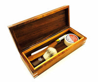 Zeva Wooden Hand Made Straight Razor Shaving Set/kit, Dovo Pate Germany Made - Liberty Beauty Supply