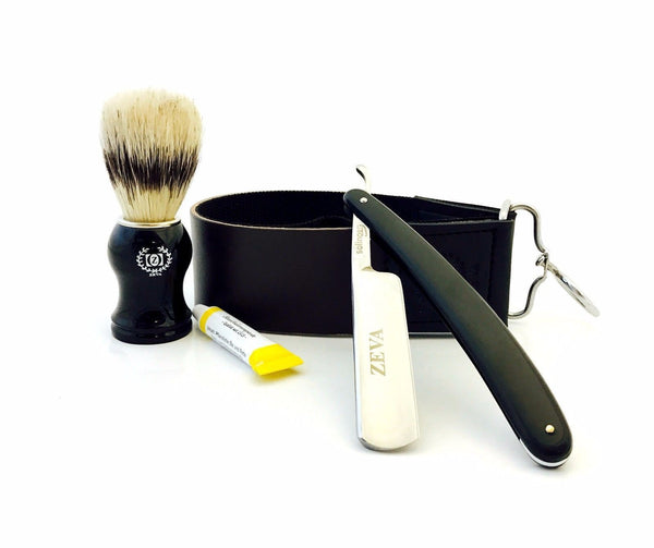Straight Razor Shave Ready Mens Wet Shave Club Shaving Set Dovo Paste Black GQ - Liberty Beauty Supply