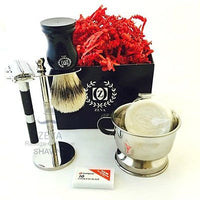 Mens Fashion 6 Pcs Shaving Kit Set Gift Ideas For Men Hot Shave Razor Rasurar - Liberty Beauty Supply