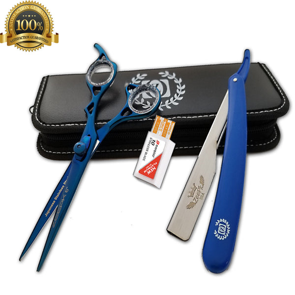 2pc Stainless Steel Hair Cuting+Thinning Scissors Barber Shears Hairdressing Set - Liberty Beauty Supply