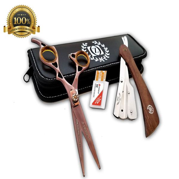 Barber Shears Hairdressing 2 pcs set Professional Salon Hair Cutting Scissors - Liberty Beauty Supply