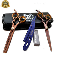 "6"" Professional Barber Shears Hairdressing Cutting Thinning Scissors RAZOR SHARP - Liberty Beauty Supply"