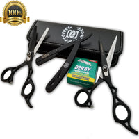 Professional Barber Hair Cutting Thinning Scissors Shears Set Hairdressing Salon - Liberty Beauty Supply