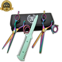 "New Hairdressing Pro Salon Hair Scissors Thinning Hair Cutting Scissors 6 "" Set - Liberty Beauty Supply"