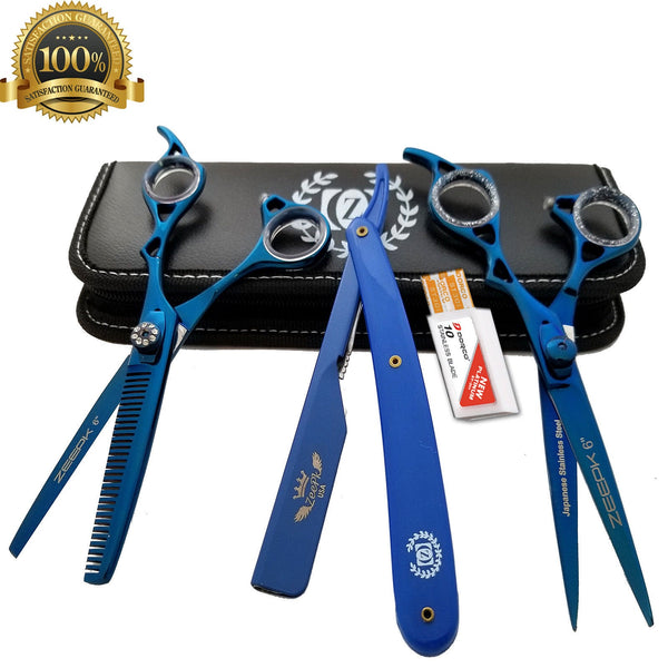 Professional Barber Hair Cutting Thinning Scissors Shears Set Salon Hairdressing - Liberty Beauty Supply