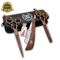 Barber Shears Hairdressing 3 pcs set Professional Salon Hair Cutting Scissors - Liberty Beauty Supply