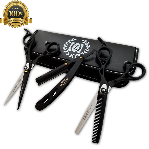 "New Professional Hair Cutting Thinning 6"" Scissors Barber Shears Hairdresser set - Liberty Beauty Supply"