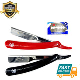Professional Straight Cut Throat Shaving Razor Barber Salon Shavette +10 Blades - Liberty Beauty Supply