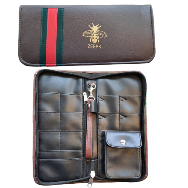 Shears Case Stylists Tools Keeper High Quality Premium PU leather Purse Wallet