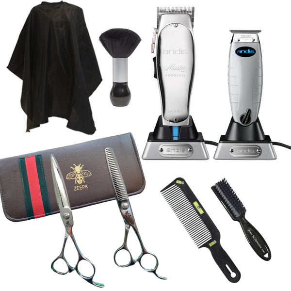 Cordless Clippers Kit Andis Master Cordless Andis toutliner / T-outliner Cordless ULTIMATE BARBER KIT