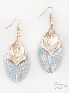 Fly Away With Me Earrings, Grey