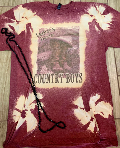 Ladies Love Country Boys Graphic Tee