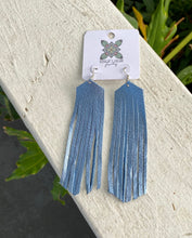 Load image into Gallery viewer, Real Leather Fringe LONG Earrings