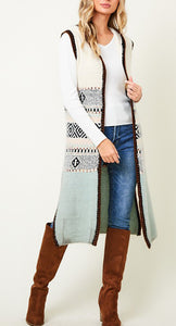 Carissa's Hooded Long Sweater Vest