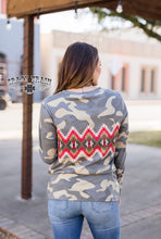Load image into Gallery viewer, Aztec Camo Top