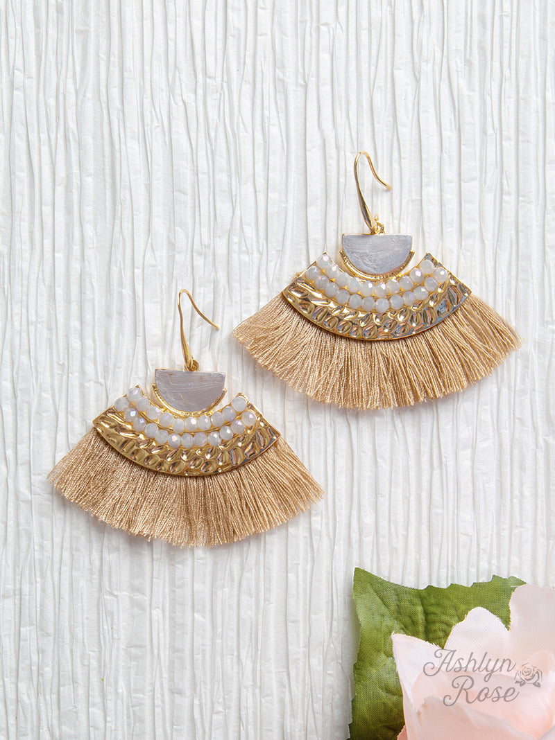 On a Safari Tassel Earrings, Brown
