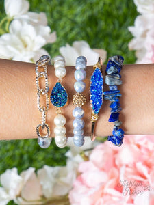 Midnight Lights Bracelet Set, Sapphire