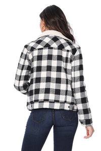 Women's Black Plaid Jacket