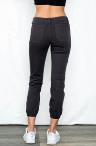 Sneak Peek Denim Mid Rise Vintage Black Jogger Cargo Pants