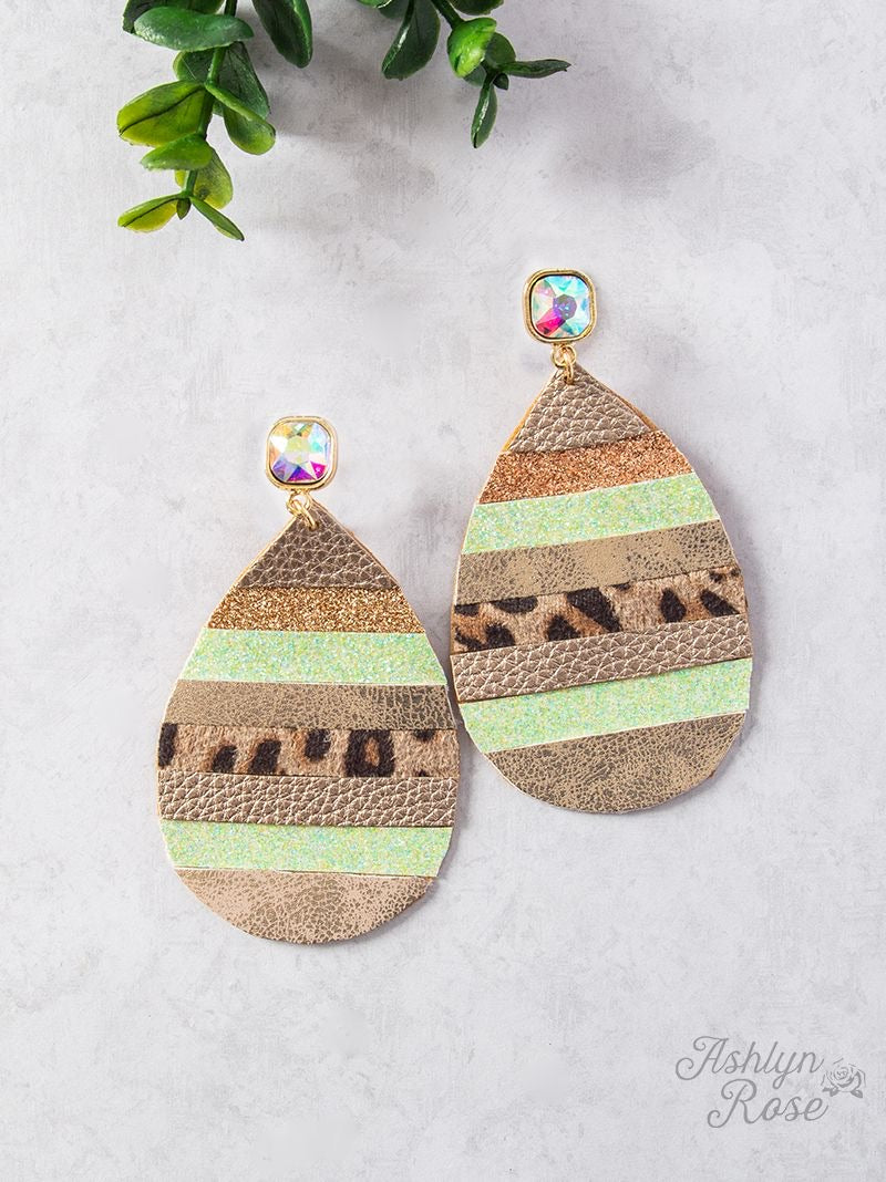 All Fun And Games Teardrop Earrings, Mint