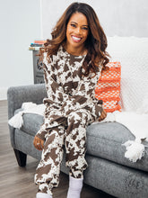 Load image into Gallery viewer, Mooove on Over, Cow Print Loungewear Set
