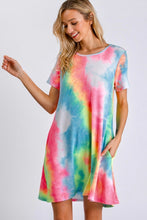 Load image into Gallery viewer, Multicolor Tie Dye Print Dress