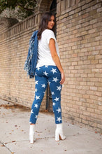 Load image into Gallery viewer, Dark Wash Stars High Waisted Jeggings