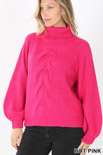 Load image into Gallery viewer, Braided Front Turtleneck Sweater