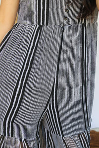 Black & White Stripes Cutout Jumper