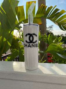 Locally Made Inspired Chanel Glitter Cup