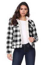 Load image into Gallery viewer, Women's Black Plaid Jacket
