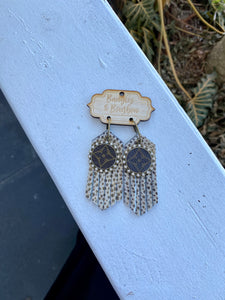 Authentic Lv Patch Earrings Taken From Pre-Loved Vintage Handbags