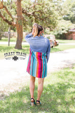 Load image into Gallery viewer, Rodeo Grounds Denim & Serape Dress
