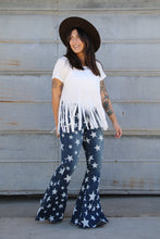 Load image into Gallery viewer, Faded Light Denim Star Bells
