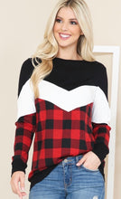 Load image into Gallery viewer, Buffalo Plaid Color Block Tunic