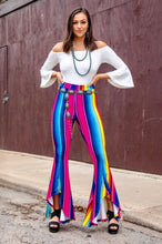 Load image into Gallery viewer, Hot Pink Serape High-Lo Hem Flare Pants
