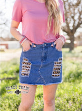 Load image into Gallery viewer, Meow Wow Leopard Denim Skirt