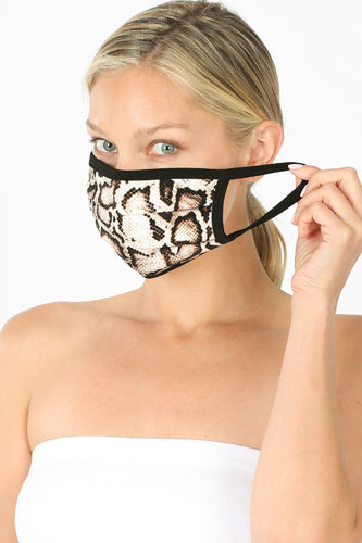 Snake Print Washable Mask